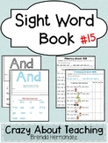 Sight Word Book-And (Kindergarten Benchmark Advance)