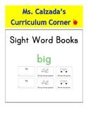 Sight Word Book- Big