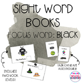 Sight Word Book: Black