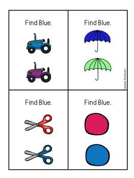 Sight Word Book: Blue