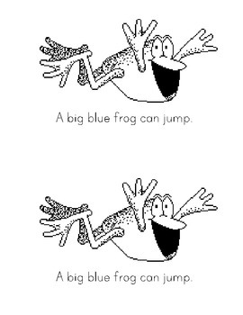 Sight Word Book: Blue Animals Can