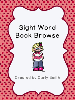 Sight Word Book Browse EDITABLE!