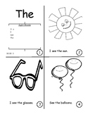 Sight Word Book Bundle 1-5.  A, I, See, The, Like, My