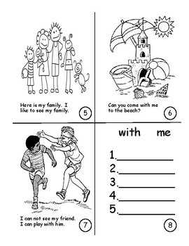 Sight Word Book Bundle 11-15: here, is, come, with, me, for, you, have