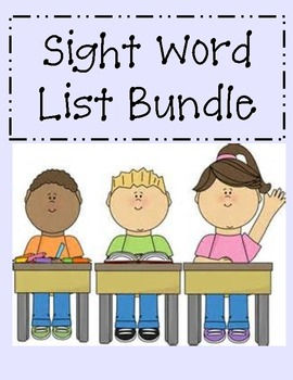 Sight Word Book Bundle