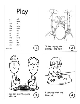 Sight Word Book Bundle 16-20:  he, she, play, are, we, will, they, day, today