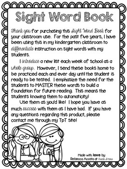 Sight Word Book Bundle (Kindergarten-2nd Grade