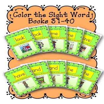 Sight Word Book Bundle, Set 4- Look, Me, Have, And, He Col