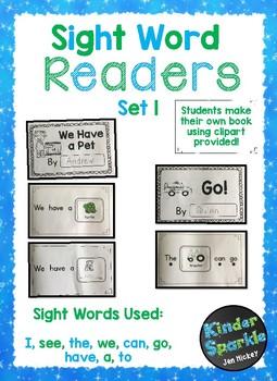 Sight Word Book Bundle (Rebus Style)