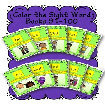 Sight Word Book Bundle, Set 10- Be, Yes, No, But & Not