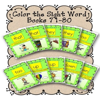 Guided Reading Sight Word Book Bundle, Set 8- That, They,