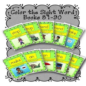 Sight Word Book Bundle, Set 9- Stop, Friend, Make, An & This