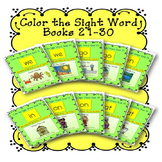 Sight Word Book Bundle, Set 3- We, Go, In, On, At  Color the Sight Word Books