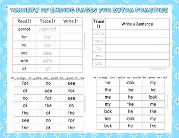 Sight Word Book Bundle - Winter Themes