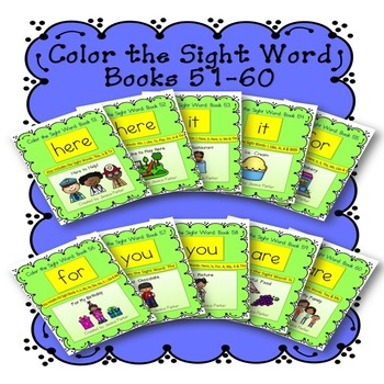 Sight Word Book Bundle, Set 6- Here, It, For, You & Are