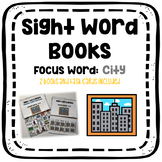 Sight Word Book: City