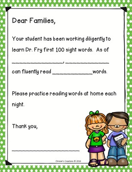 Special Education intervention - Sight Word practice set- Fry Words 1-100