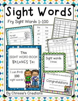 Special Education intervention - Sight Word practice set-