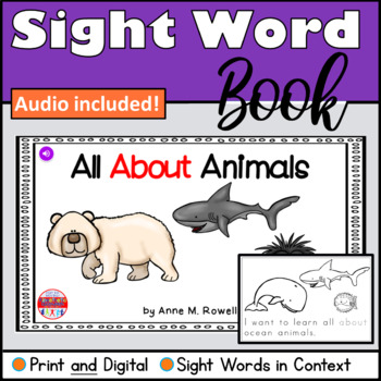 Sight Word Book Emergent Reader {Sight Word ABOUT}