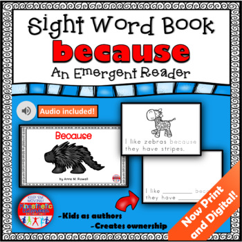 Sight Word Book Emergent Reader {Sight Word BECAUSE}