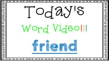Sight Word Book Emergent Reader {Sight Word FRIEND}
