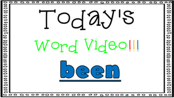 Sight Word Book Emergent Reader {Sight Word BEEN}