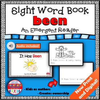 Sight Word Book Emergent Reader {Sight Word BEEN}