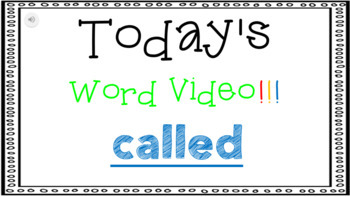 Sight Word Book Emergent Reader {Sight Word CALLED}