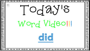 Sight Word Book Emergent Reader {Sight Word DID}