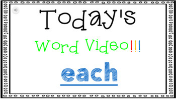 Sight Word Book Emergent Reader {Sight Word EACH}