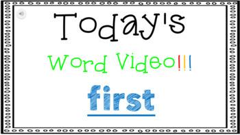 Sight Word Book Emergent Reader {Sight Word FIRST}