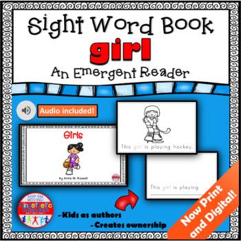 Sight Word Book Emergent Reader {Sight Word GIRL}