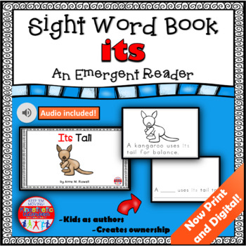 Sight Word Book Emergent Reader {Sight Word ITS}