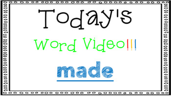 Sight Word Book Emergent Reader {Sight Word MADE}