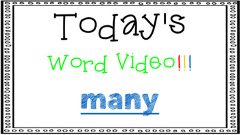 Sight Word Book Emergent Reader {Sight Word MANY}