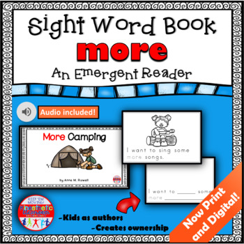 Sight Word Book Emergent Reader {Sight Word MORE}