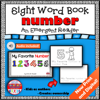 Sight Word Book Emergent Reader {Sight Word NUMBER}