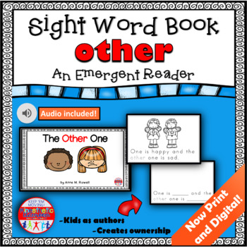 Sight Word Book Emergent Reader {Sight Word OTHER}