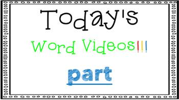 Sight Word Book Emergent Reader {Sight Word PART}