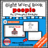 Sight Word Book Emergent Reader for the Word PEOPLE Print and Digital with Audio