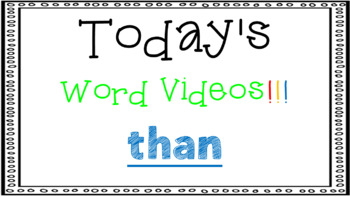 Sight Word Book Emergent Reader {Sight Word THAN}