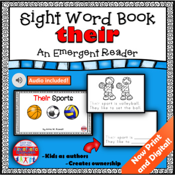 Sight Word Book Emergent Reader {Sight Word THEIR}