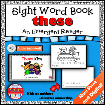 Sight Word Book Emergent Reader {Sight Word THESE}