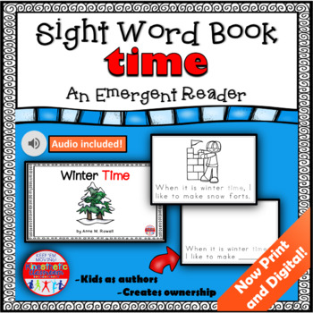 Sight Word Book Emergent Reader {Sight Word TIME}