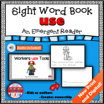 Sight Word Book Emergent Reader {Sight Word USE}
