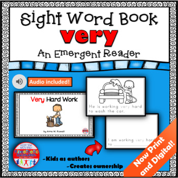 Sight Word Book Emergent Reader {Sight Word VERY}