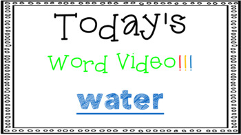 Sight Word Book Emergent Reader {Sight Word WATER}