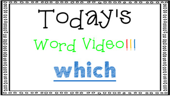 Sight Word Book Emergent Reader {Sight Word WHICH}