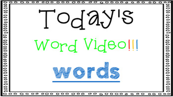 Sight Word Book Emergent Reader {Sight Word WORDS}