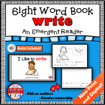 Sight Word Book Emergent Reader {Sight Word WRITE}